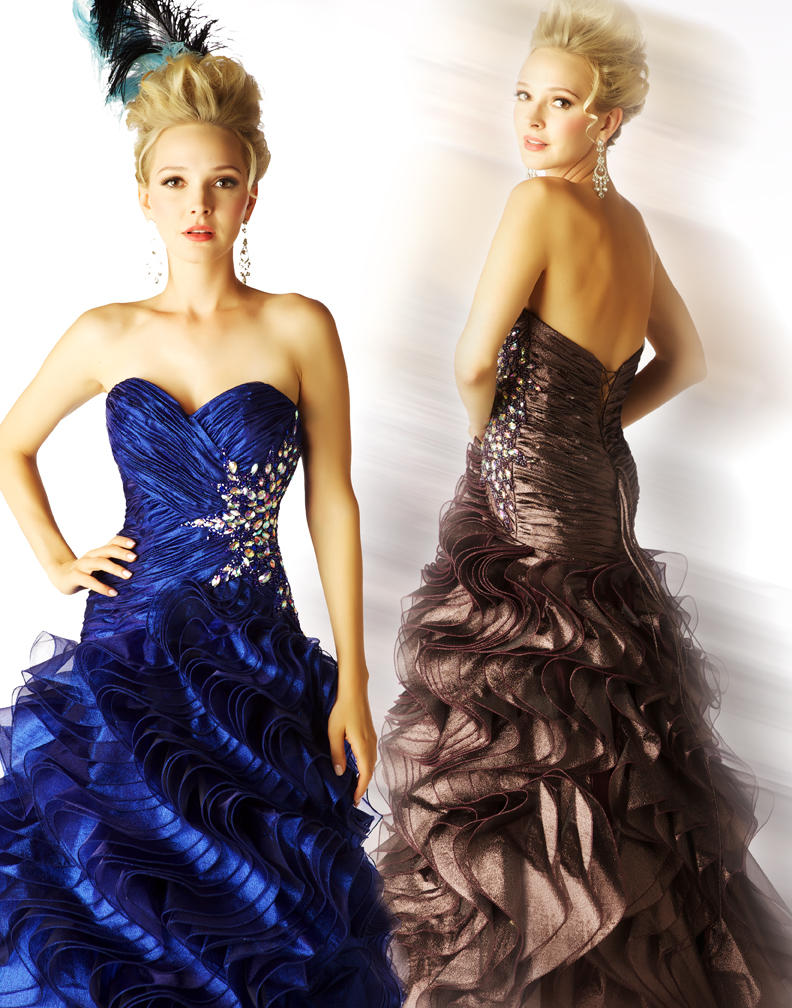 Mac Duggal Style 4844H Prom Dress available now in colour Amethyst from Prom Perfect