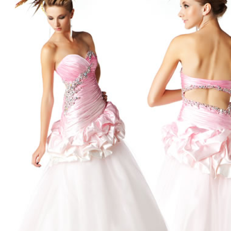 MacDuggal  Prom Dress Style 6007H in Pink Ombre available Now from Prom Perfect