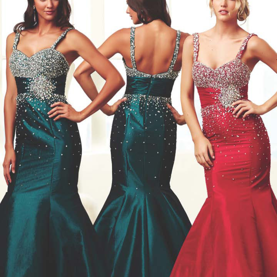61618H style from Mac Duggal Now available in Teal from Prom Perfect