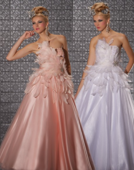 Mac Duggal dress style 81505M in colour Blush available now from Prom Perfect