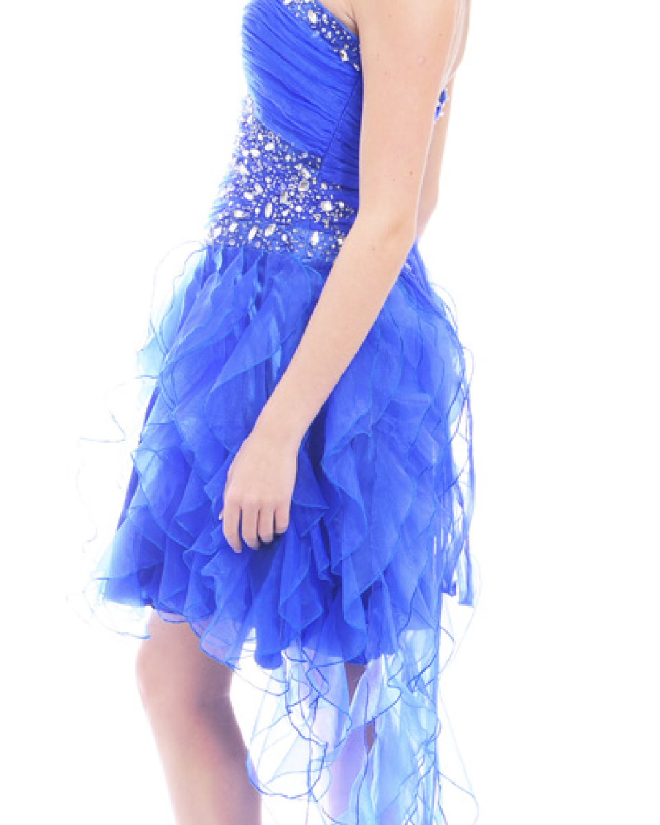 Guestlist Design style Guiselle Prom Dress in Royal Blue available now from Prom Perfect