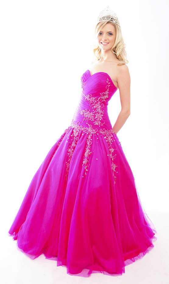 Guest list Design style Isabella Prom Dress in colours Fuchsia and Sunshine available now from Prom Perfect