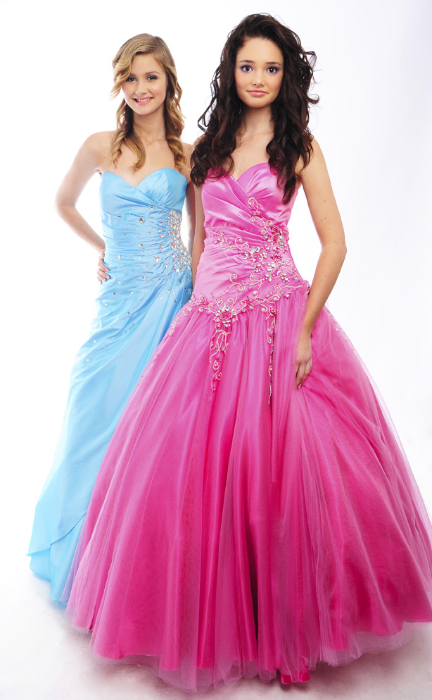 Guestlist Design Princess Prom Gown Style Paris in Pink available now from Prom Perfect