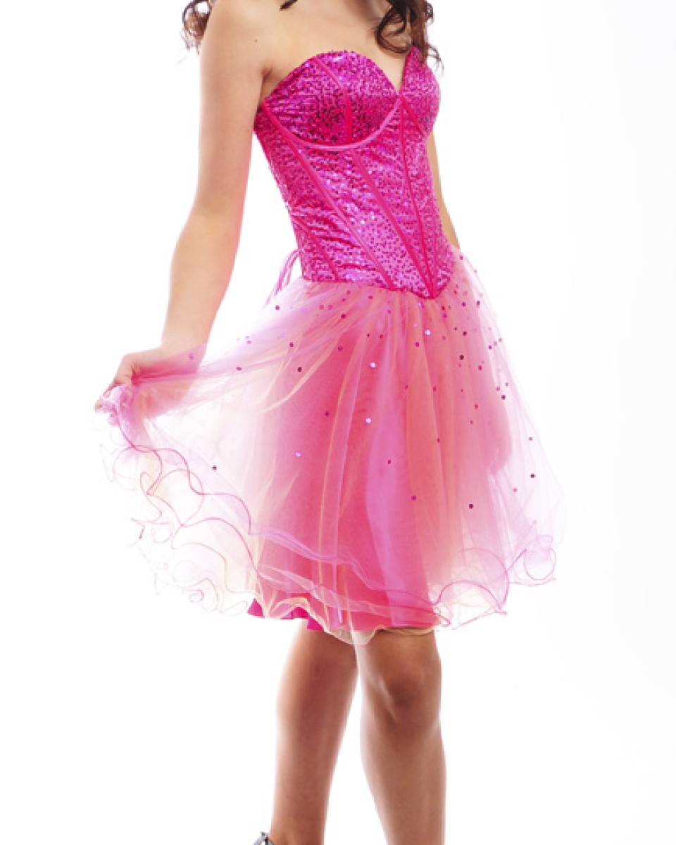 Guestlist Design Prom  Party Cocktail Dress style Rio available now in Hot Pink and Lilac from Prom Perfect